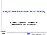 Analysis and Prediction of Polish Profiling - NCCAVS - User Groups