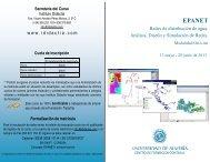 Diptico EPANET - Colegio de Ingenieros Técnicos de Obras Públicas