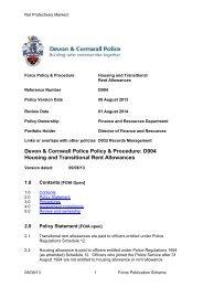 refreshment, subsistence & lodging allowances - Devon & Cornwall ...