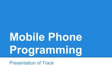 Presentation of Track - mobile devices