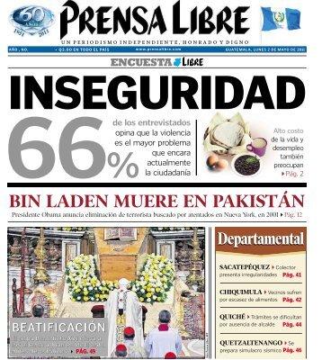 BIN LADEN MUERE EN PAKISTÁN - Prensa Libre