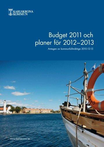 Budget 2011 slutlig - Karlskrona kommun