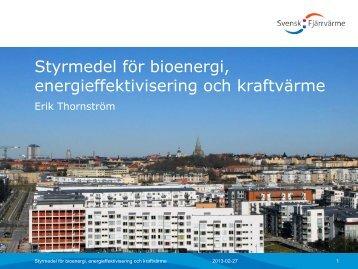 Styrmedel för bioenergi, energieffektivisering och kraftvärme