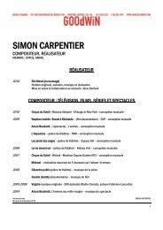 SIMON CARPENTIER - Agence Goodwin