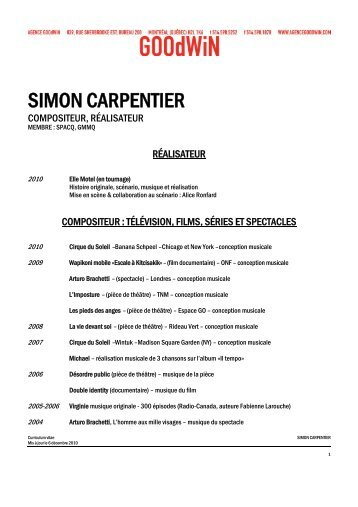 SIMON CARPENTIER - Agence Goodwin
