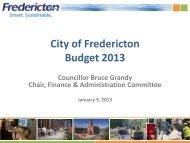 Budget 2013 PPT PDF - Fredericton