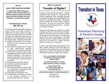Transition Planning Brochure - Coppell Independent School District
