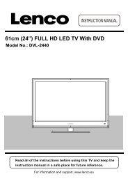 """61cm (24"""") FULL HD LED TV With DVD Model No.: DVL-2440 - Lenco"""