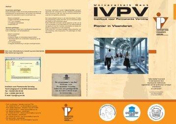 Pionier in Vlaanderen - Instituut voor Permanente Vorming