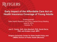 Early Impact of the Affordable Care Act on Health Insurance ...