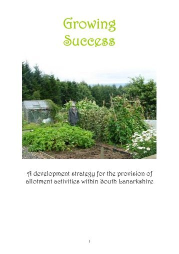 an allotment strategy - Scottish Allotments and Gardens Society