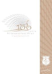 Festzeitschrift 100 Jahre RV - Radfahrverein Germania Forst e.V.