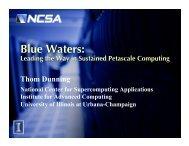 Blue Waters: - prace