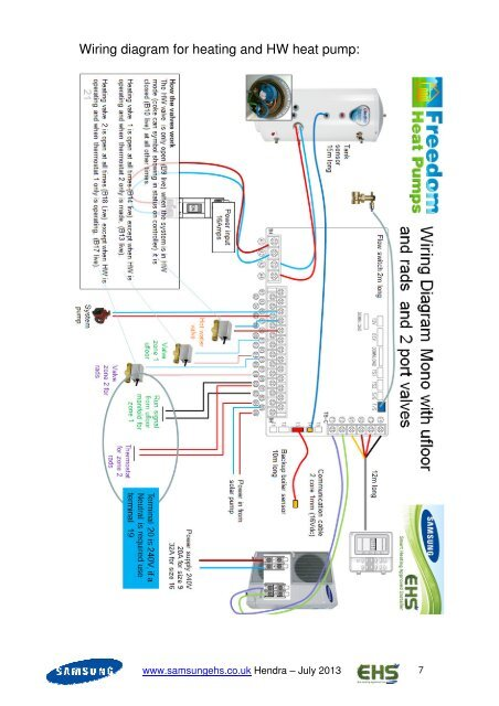 Wiring diagram for heatin on