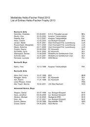 Meldeliste Heiko-Fischer Pokal 2013 List of Entries Heiko-Fischer ...