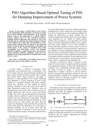 PSO Algorithm-Based Optimal Tuning of PSS for Damping ... - IJET