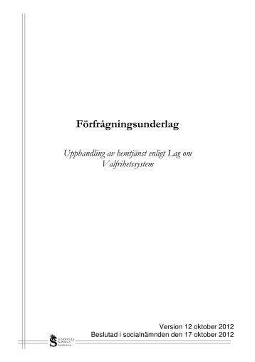 Kravspecifikation för godkännande - utförare av hemtjänst - Sundsvall