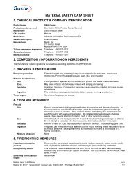 material safety data sheet 1. chemical product & company ... - MSDS