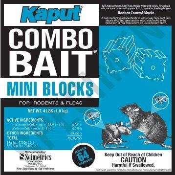 Kaput Combo Bait Mini Blocks Label - Do My Own Pest Control