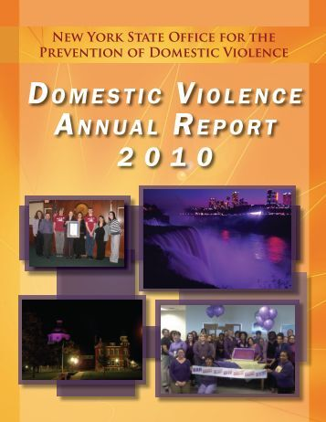 Domestic Violence Annual Report 2010 - New York State Office for ...