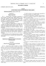 Legea nr. 544/2001 privind accesul la informatiile de interes public