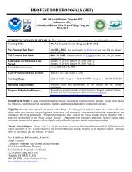 request for proposals (rfp) - Sea Grant College Program - University ...