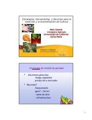 Estrategias, herramientas y recursos para la selección de cultivos y ...