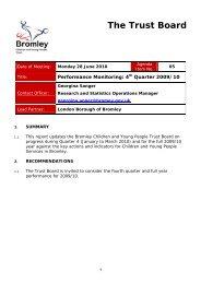 Performance Monitoring - Bromley Partnerships