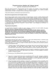 Programmazione didattica del Collegio docenti - Liceo Classico ...