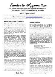 September 2012 - American Civil War Roundtable of Australia