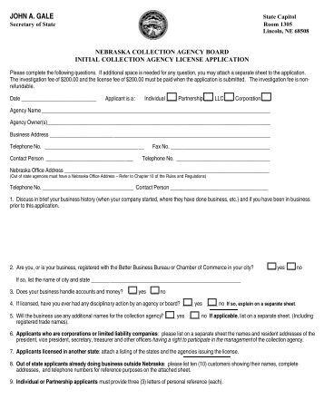 Bvi fishing license application form for Nebraska fishing permit