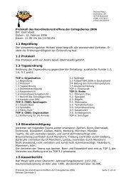 1.1 Begrüßung 1.2 Protokoll 1.3 Tagesordnung 1.4 ... - College Series
