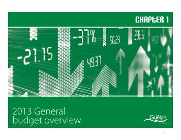 2013 General Budget Overview - City of Guelph