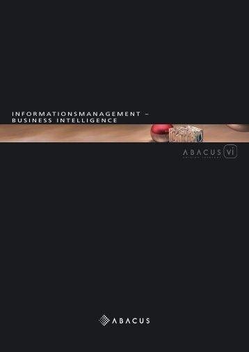 informationsmanagement – business intelligence - ABACUS ...