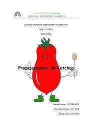 Processamento de Ketchup - ESAC