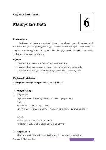Manipulasi Data - iLab