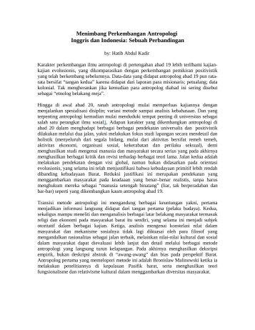 Antropologi dari Masa ke Masa