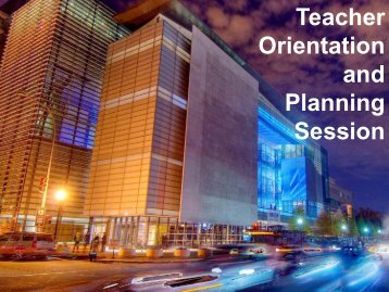 Teacher Orientation and Planning Session - Newseum