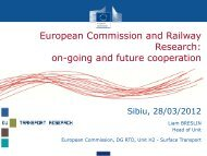 European Commission and Railway Research - Club Feroviar ...