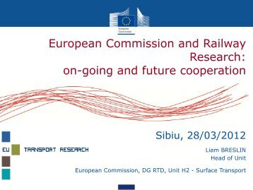European Commission and Railway Research - Club Feroviar ...