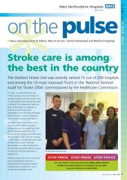 OTP january issue - West Hertfordshire Hospitals NHS Trust