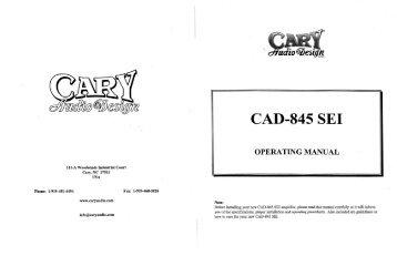 CAD 845 SEI - Cary Audio Design
