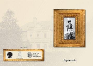 Zaproszenie z programem - Instytut Pamięci Narodowej