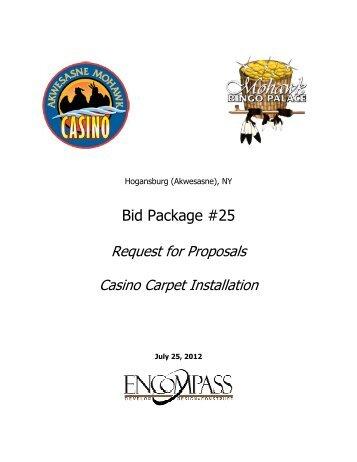 Casino Carpet Installation - Saint Regis Mohawk Tribe