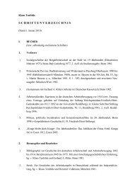 Klaus Tenfelde - Haus der Geschichte des Ruhrgebiets - Ruhr ...