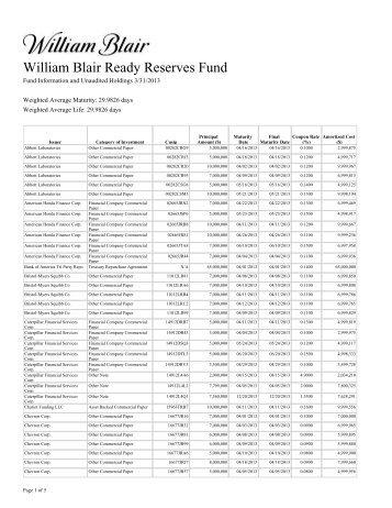 3/31/2013 - William Blair