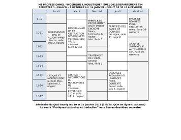 2011-2012/departement tim semestre 1 - inalco – 3 octobre au 14 ...