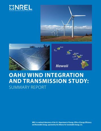 OAHU Wind Integration And Transmission Study: Summary ... - NREL