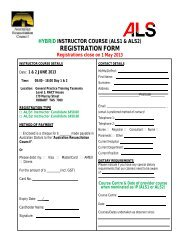REGISTRATION FORM - Australian Resuscitation Council