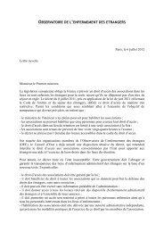 la lettre ouverte de l'OEE au Premier ministre - Acat